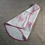 Art-1 accapatoio spugna neonata fiocchi rosa baby