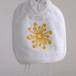Art-1 bavaglino spugna neonato-a sole giallo oro
