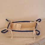 Art-1 svuota tasche cotone e misto lino rombetti azzurro 13