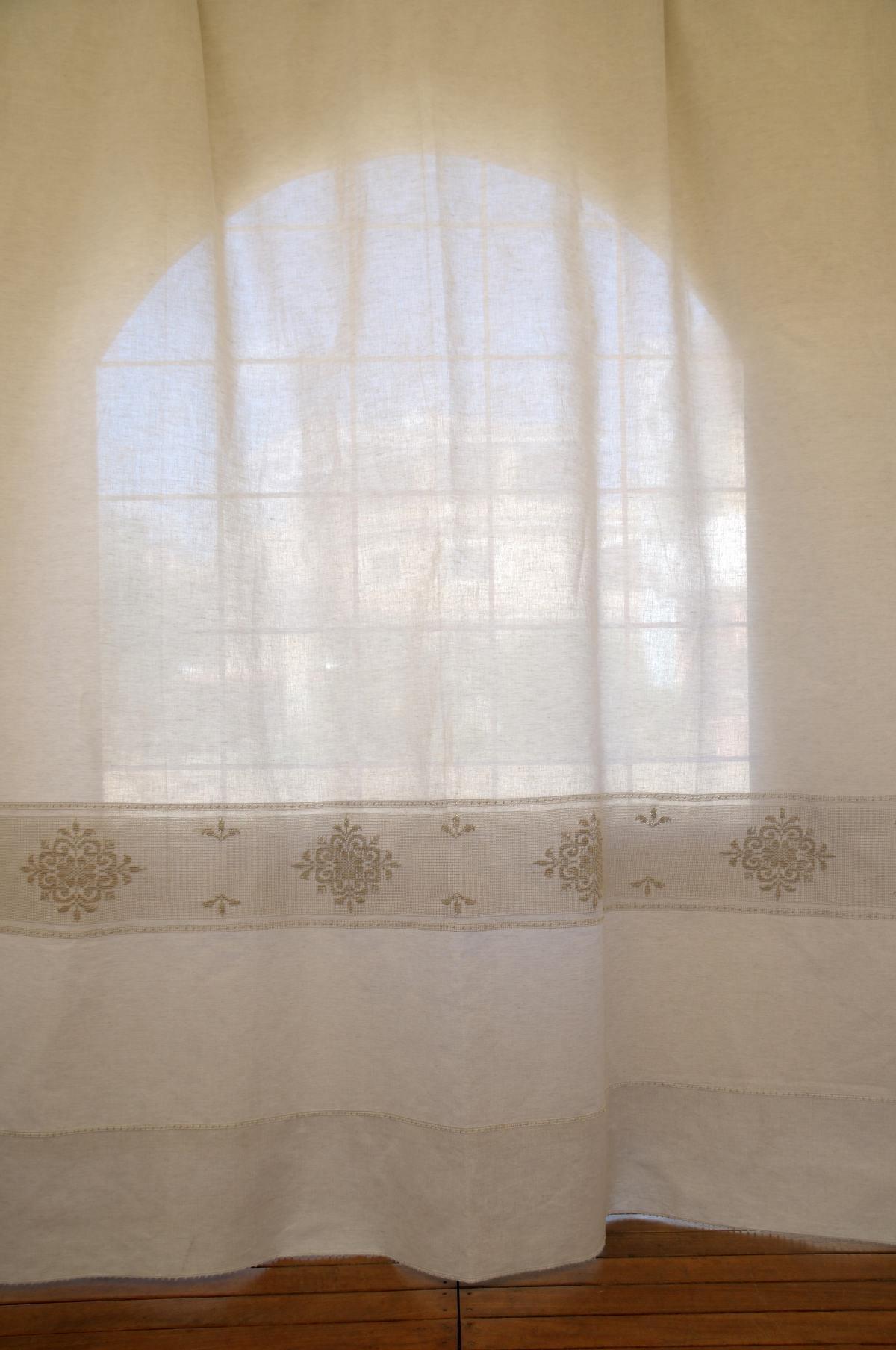 Art 1 tenda misto lino pistoccu annasegreto - Tende in lino per cucina ...