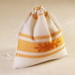 Art-10 sacco porta oggetti misto lino pistoccu giallo oro