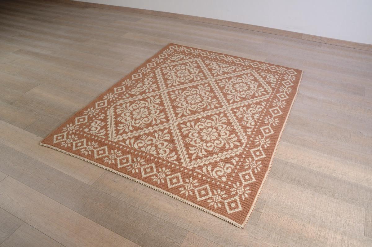 Art-11 tappeto lana tessuto pieno due colori pistoccu - Annasegreto