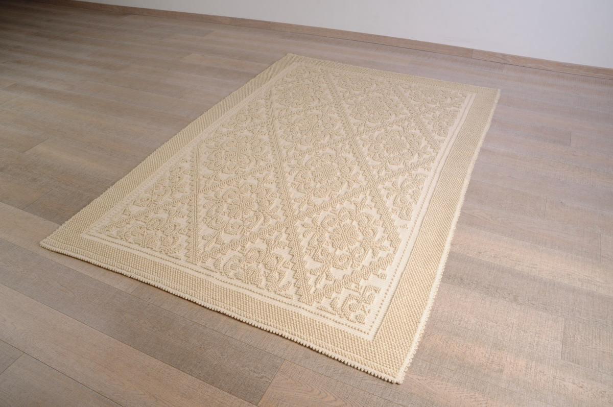 Art-12 tappeto lana tessuto a rilievo pistoccu - Annasegreto
