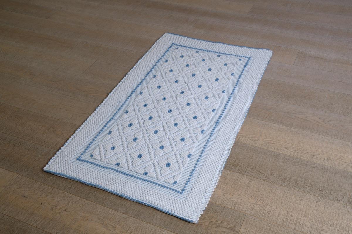 Home » Prodotti » Art-14 tappeto cotone tessuto a rilievo rombi e ...