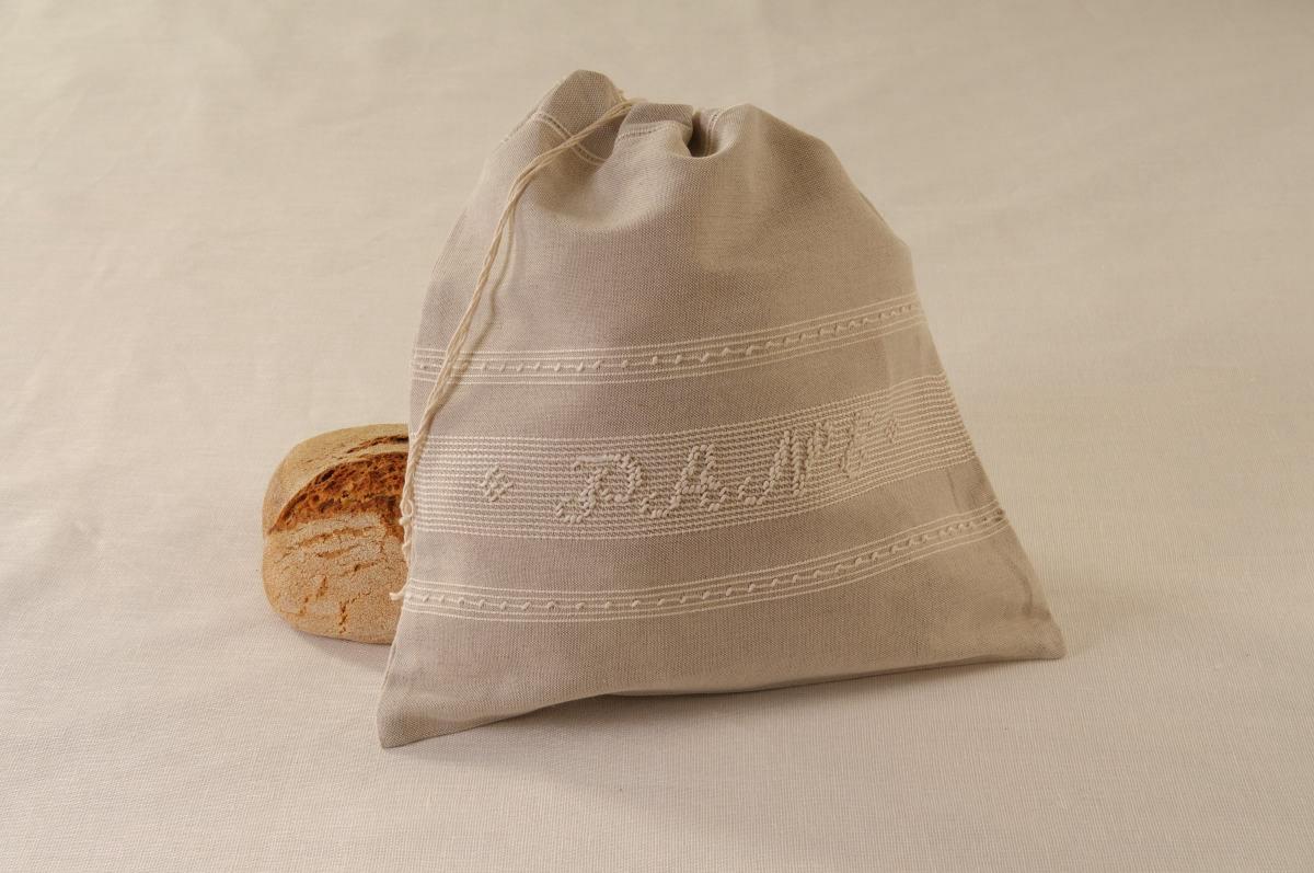 Art-2 sacco porta pane misto lino panna