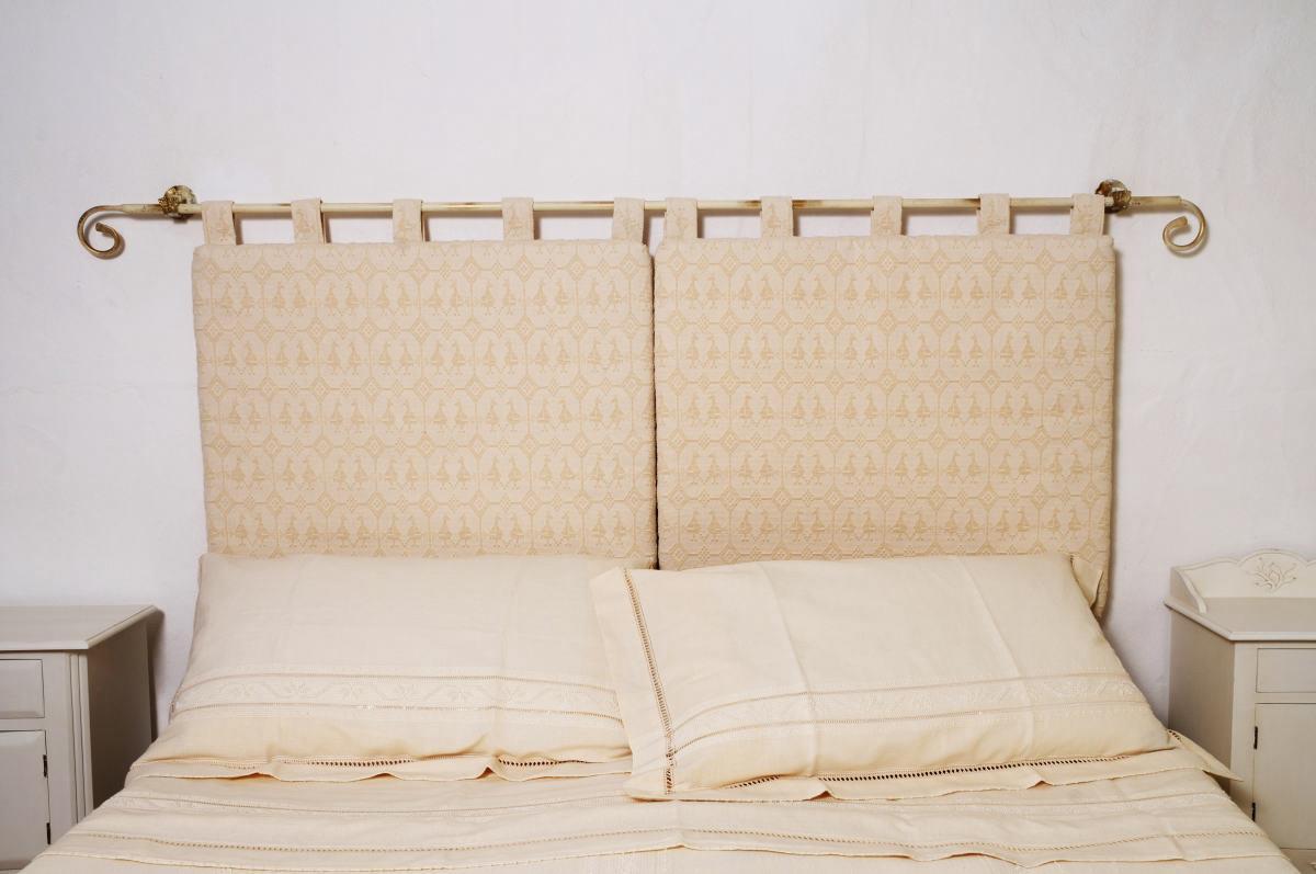 Art 2 testata cotone pavoncella panna annasegreto for Testiere letto a cuscino