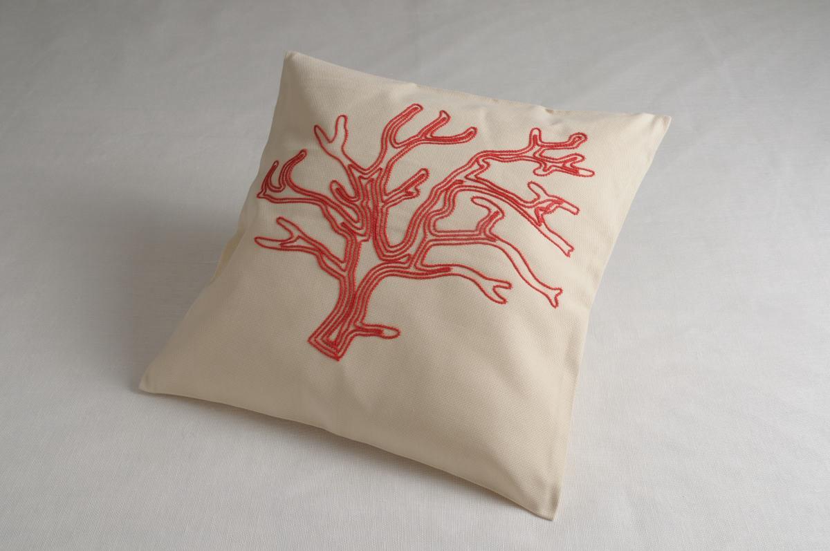 Preferenza Art-37 copricuscino cotone corallo rosso - Annasegreto IW46