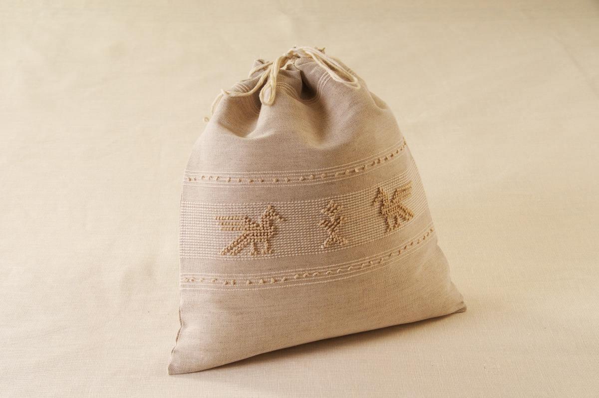 Art-4 sacco porta oggetti pavoncella tortora