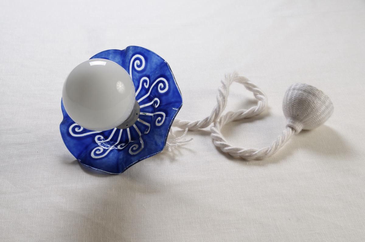 Plafoniere Vetro Blu : Plafoniera da soffitto blu annunci padova