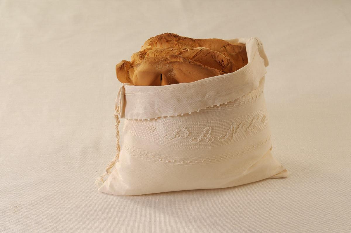 Art-5 sacco porta pane misto lino panna