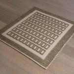 Art-58 tappeto cotone tessuto a rilievo quadretti