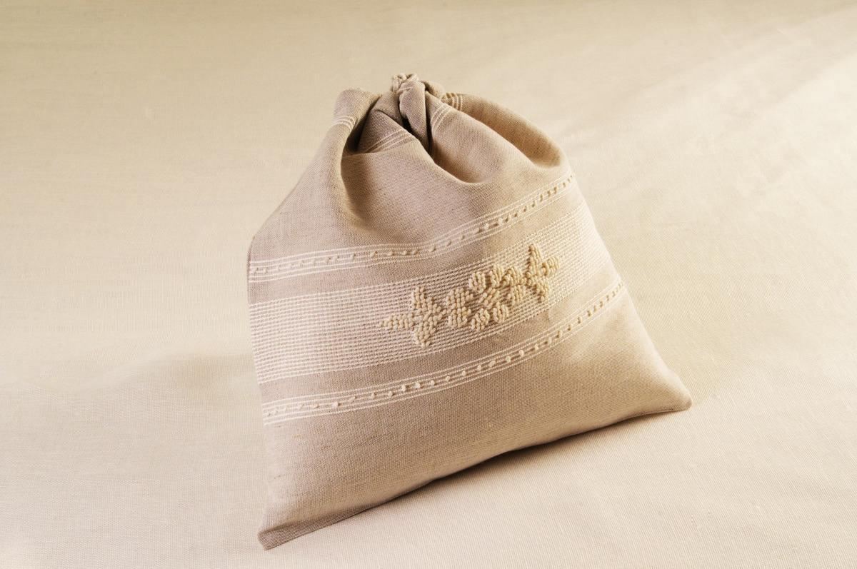 Art-7 sacco porta oggetti misto lino pistoccu panna