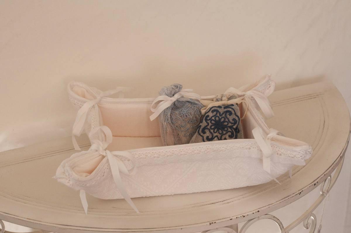 Art-8 svuota tasche cotone e misto lino pistoccu bianco