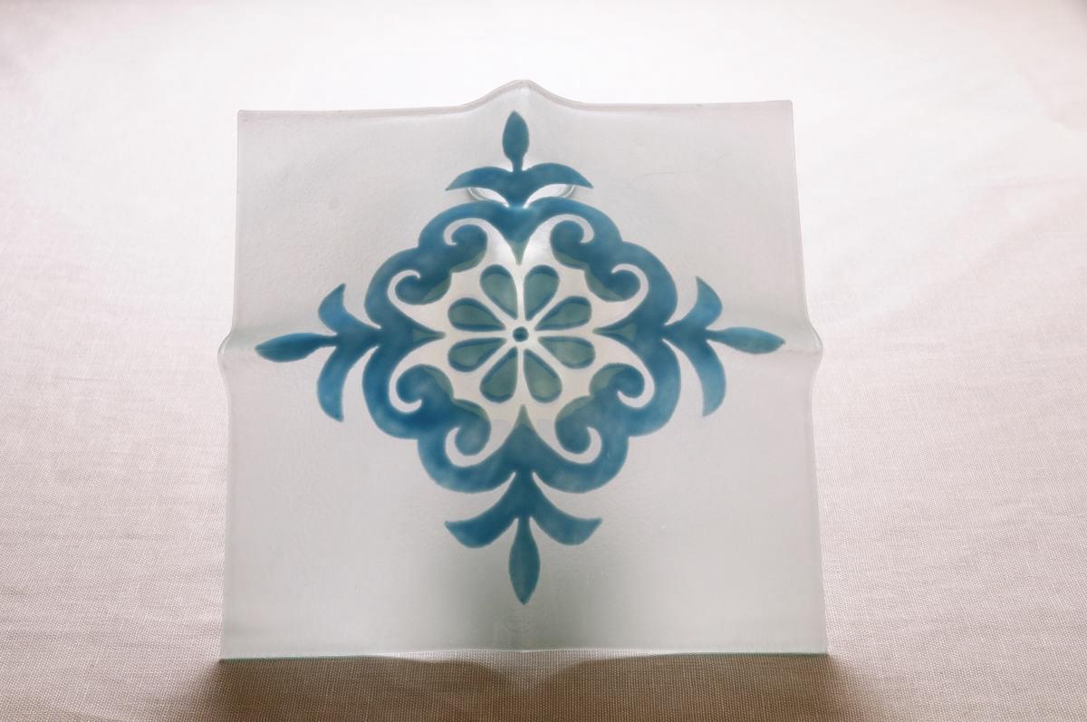 Plafoniere Vetro Blu : Art plafoniera vetro pistoccu celeste annasegreto