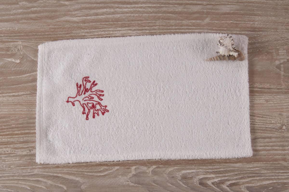 ... Prodotti » Art-4 lavetta in spugna bianco con disegno corallo rosso