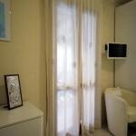 Art-3 tende in lino puro panna con disegno sole lilla