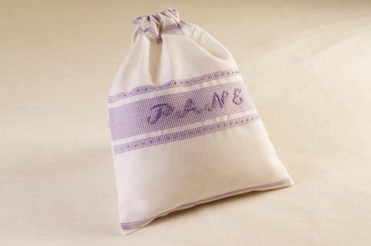 Art-15 sacco porta pane misto lino lilla