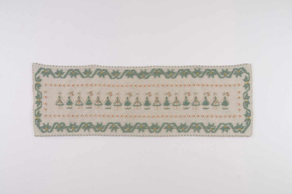 Art-2 arazzo lana ballo sardo verde salvia