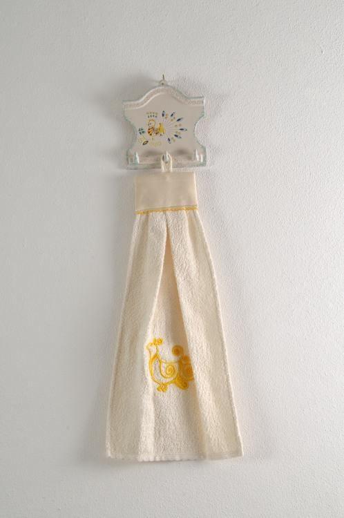 Art-2 asciughino spugna pavoncella giallo oro