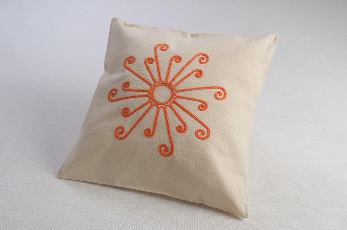 Art-44 copricuscino cotone sole arancio evidente