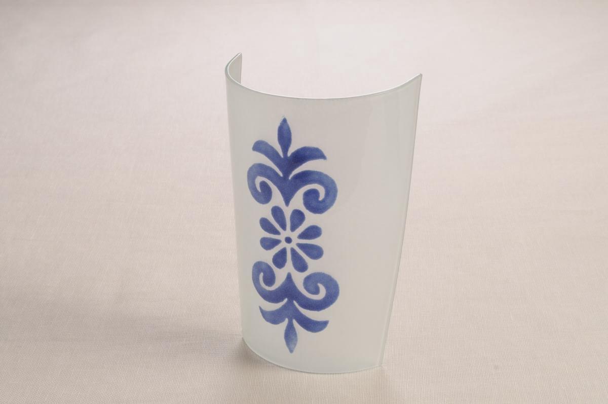 Art-9 applique vetro pistoccu blu