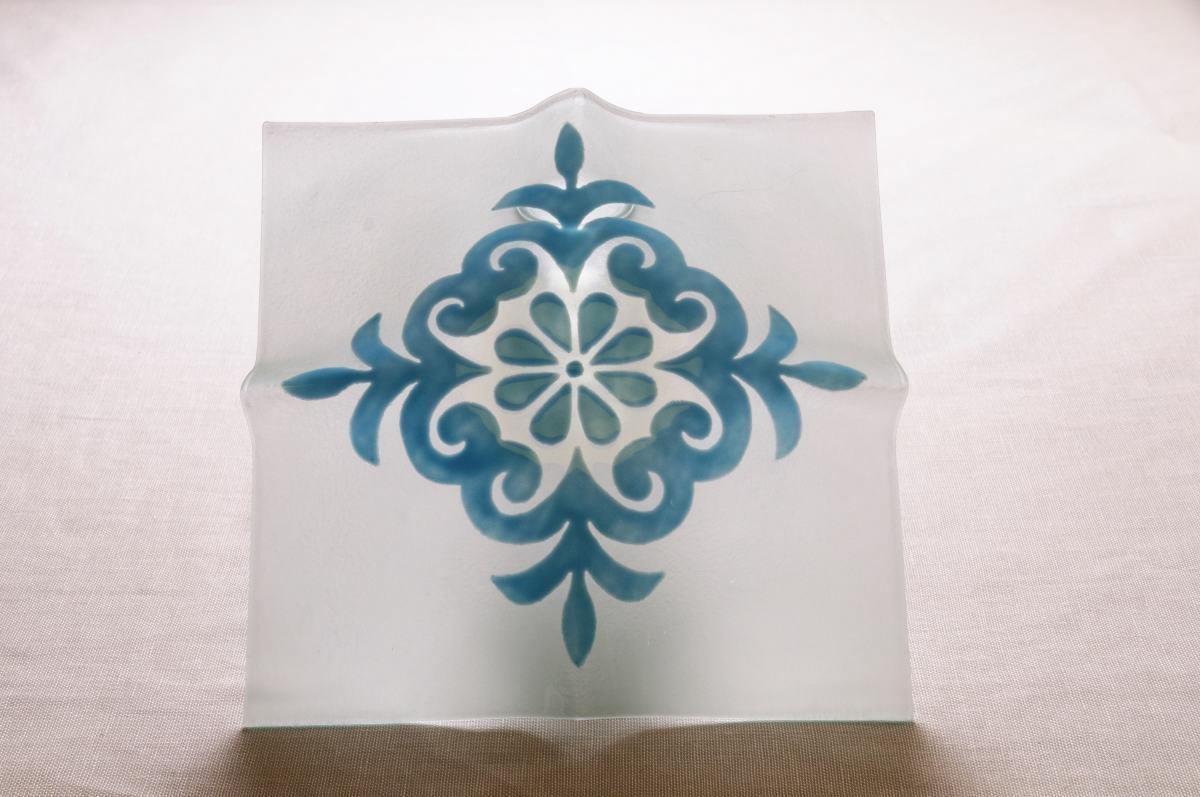 Plafoniere Vetro Blu : Art plafoniera vetro pavoncella bianco annasegreto