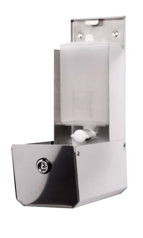 Dosatore sapone liquido 0,9 ml inox 304 lucido o satinato